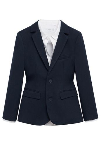 MANGO KIDS blue Slim Fit Suit Blazer AB68CKA2EBC379GS_1