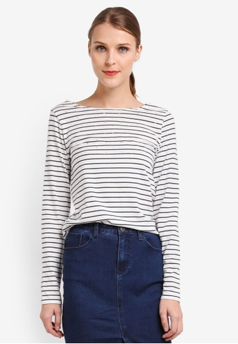 Wallis navy Striped Embellished T-Shirt 123BCAA9CF5498GS_1