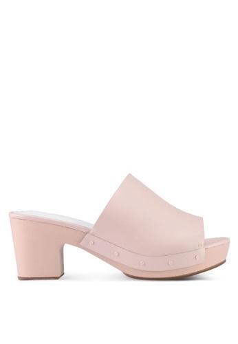 VINCCI pink Slip On Mule Heels 59DE7SH094F0B2GS_1