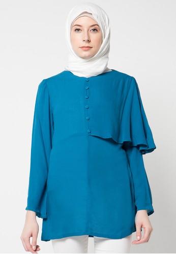 Aira Muslim Butik blue Dania Blouse AI892AA30OZHID_1