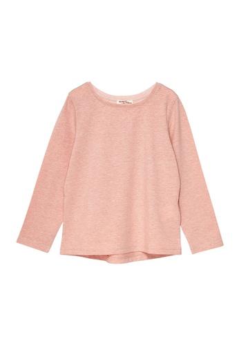 Du Pareil Au Même (DPAM) pink Plain Long Sleeve T-shirt 94D11KAAE0C8D6GS_1