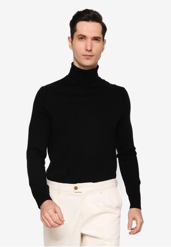 Banana Republic black Merino Turtleneck Sweater C5578AA093E9D9GS_1