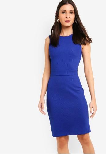 ZALORA blue Sleeveless Sheath Dress 2C039AAC707806GS_1