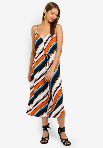 49b8632cf7274c Buy Miss Selfridge Multi Stripe Romper Jumpsuit Online on ZALORA Singapore