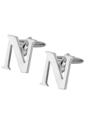 CUFF IT silver Initial Alphabet N Cufflinks CU047AC2VHEQHK_1