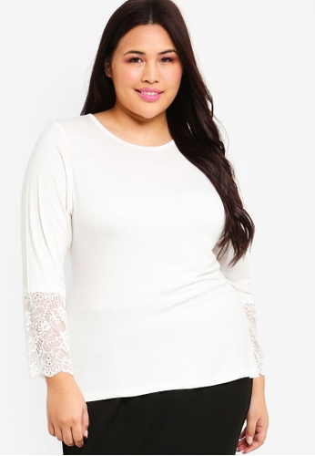 Lubna white Lace Sleeve Inner 35DB2AA8C70FE2GS_1