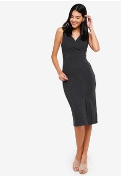 9f3c6ea566 37% OFF ZALORA Overlap Rib Bodycon Dress RM 109.00 NOW RM 68.90 Sizes XS S  M L XL