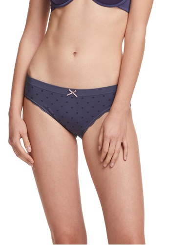 6IXTY8IGHT navy Circular Knit Low-rise Hipster Panty PT09602 A655EUSFC83828GS_1