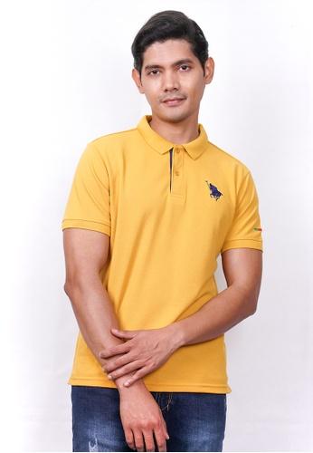 MILANO yellow Milano Polo Short Sleeve 64660AA7F23263GS_1