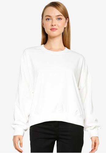 Cotton On white Harper Boxy Graphic Crew Sweatshirt 5C394AAA5A3596GS_1
