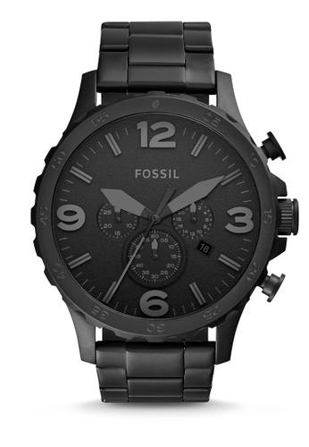 Nate Black Stainless Steel Watch Jr1401