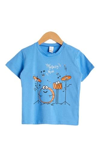 LC Waikiki blue Baby Boy?s Printed T-Shirt BFE53KACABA8A1GS_1