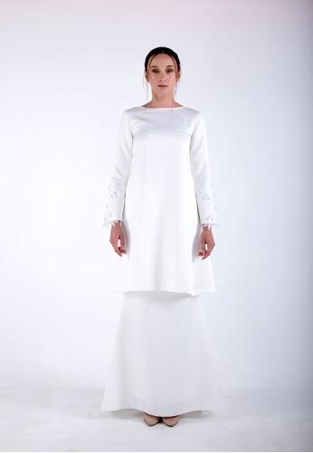 OPHELIA Kurung from Meraki Atelier in White