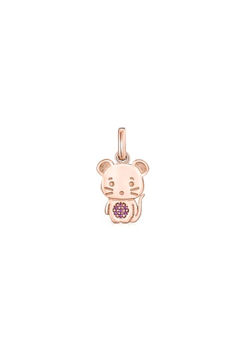 Tous pink TOUS Chinese Horoscope Rat Pendant in Rose Gold Vermeil with Ruby F146FACD2F528FGS_1
