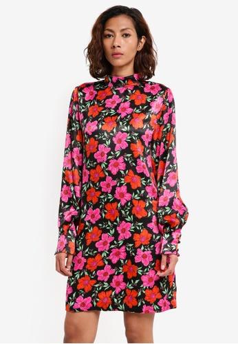 Mango black Floral Print Dress 99038AAA431DC5GS_1