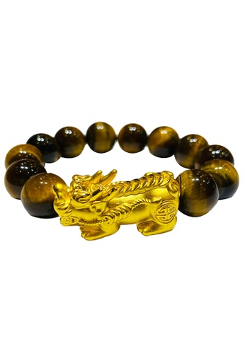 LITZ yellow LITZ 999 (24K) Gold PiXiu With Tiger Eye PXS-14 (32MM) 64252AC80F1F9AGS_1