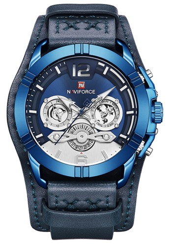 Naviforce blue Naviforce - Jam Tangan Pria - Blue - Leather Strap - NF9162-A 59048AC510ABEDGS_1