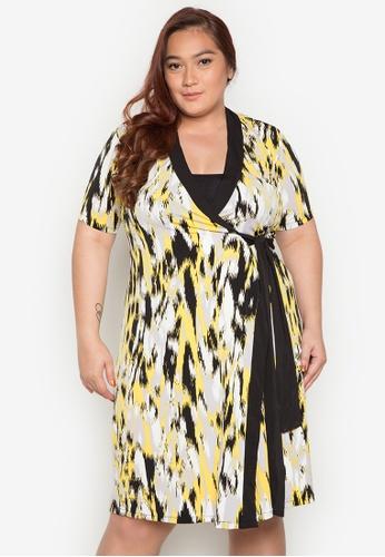 Lulu multi Plus Size Dvf Dress LU439AA0JPROPH_1