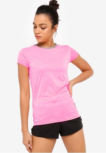 UniqTee pink Slim Crew Neck Tee 675B0AAA750780GS_1