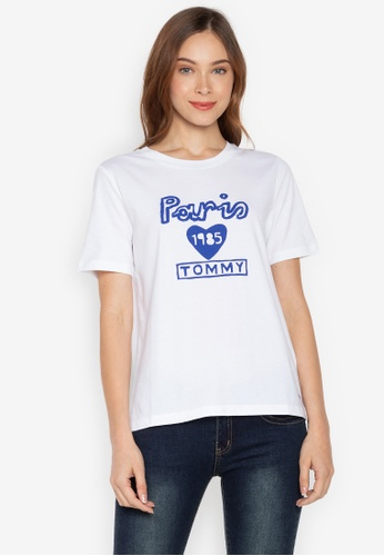 e9e33a896 Shop Tommy Hilfiger Paris Graphic T-Shirt Online on ZALORA Philippines
