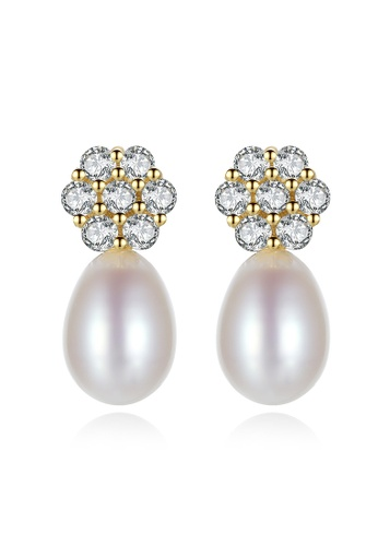 A.Excellence white Premium White 18K Pearl Elegant Earring 2D4A1AC67BAEA0GS_1