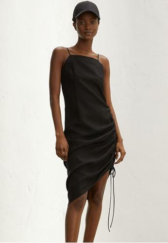 H&M black Lyocell-Blend Slip Dress 54EC1AA966D540GS_1