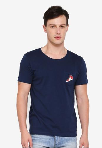 ESPRIT navy Short Sleeve T-Shirt 238EEAACB0DA3FGS_1