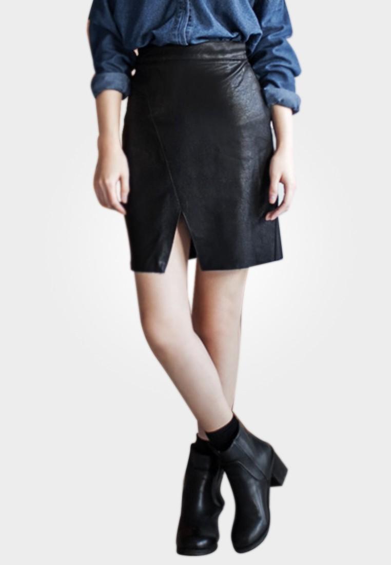 Posh Elegance Cut-Out Skirt