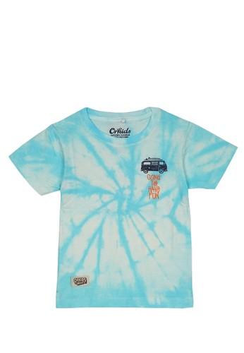 ORKIDS WEAR multi ORKIDS Baju Kaos Anak Tie Dye Going Soft Turquise 5EDA7KA34253D1GS_1