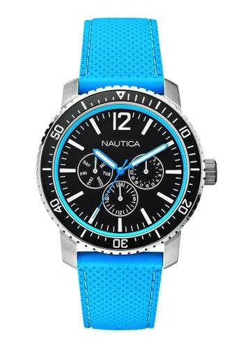 NAUTICA blue Nautica NSR 14 Blue Silicone Strap NA146AC68OBJSG_1