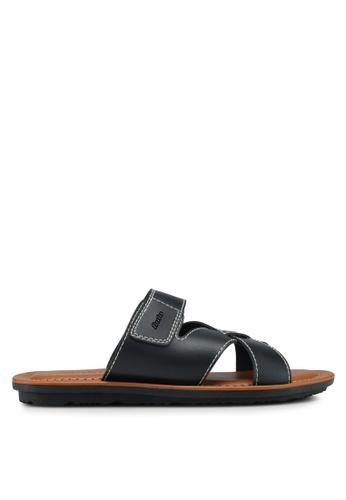 Bata black Cutout Strap Sandals 6D241SHCAD3319GS_1