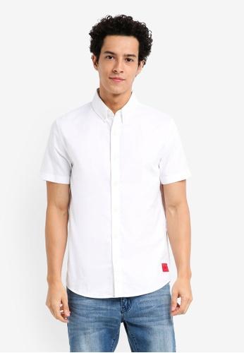 Calvin Klein white Wilbens Slim Fit Oxford Shirt - Calvin Klein Jeans D8B14AA2935260GS_1