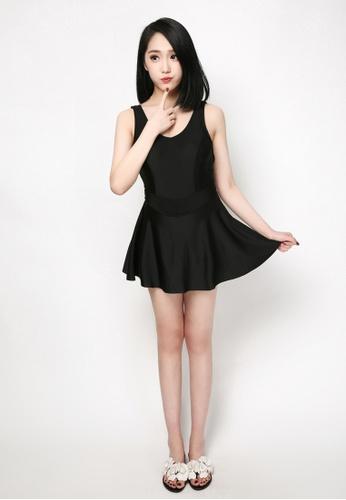 hk-ehunter black Solid Color Swimsuit 446ADUS0C49564GS_1