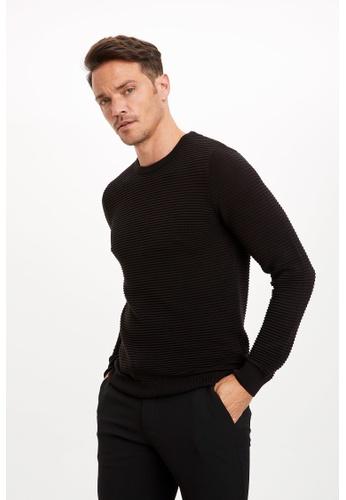 DeFacto 黑色 Man Tricot Pullover 3F58FAA15EDFF3GS_1