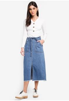 fa9423b49504 37% OFF JACQUELINE DE YONG Louise Long Skirt HK  329.00 NOW HK  207.90  Sizes 38 40