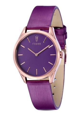 VENDEesprit地址LA 雙指針皮革錶, 錶類, 飾品配件