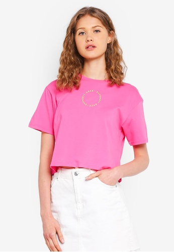 Factorie pink Graphic Boxy Tee 1BB97AA135D06DGS_1