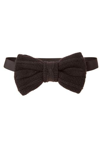 BARBA black Ribbed Bow Tie BA953AC12LJBPH_1