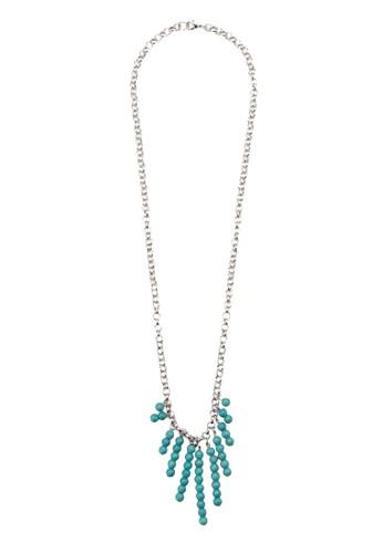 Tezalora 衣服尺寸mu 彩珠流蘇項鍊, 飾品配件, 飾品配件
