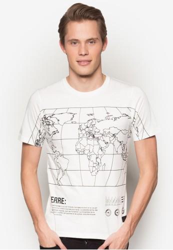 地圖導航設計TEE, 服飾,esprit 價位 印圖T恤