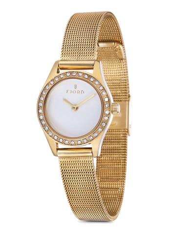 MARINA 金屬esprit outlet hk網眼水鑽圓錶, 錶類, 飾品配件