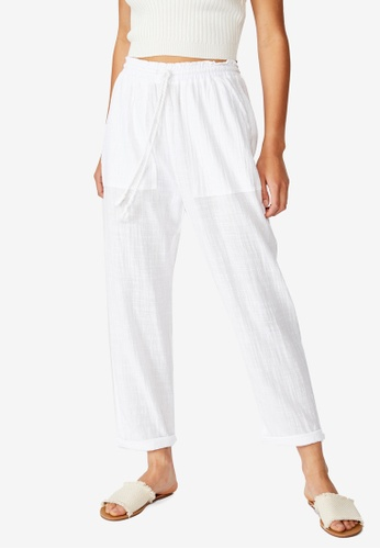 Cotton On white The Weekend Pant 0EED3AAFEA5145GS_1