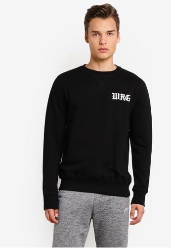 Wrung black WRG Member Sweatshirt WR395AA00MPBMY_1