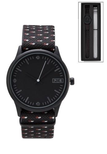 印花雙錶帶手錶組, 錶類, 飾esprit童裝門市品配件