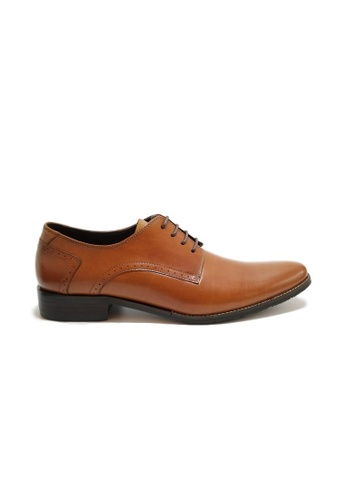 Kings Collection brown Gramercy Derbies Shoes 9E340SHB8F2BDCGS_1