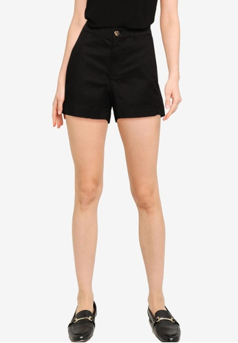 Old Navy 黑色 高腰設計 素色短褲 701D5AA29C44BDGS_1