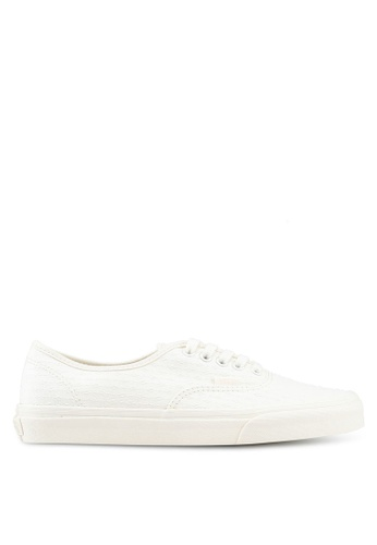 86e32430a2 VANS white Authentic Woven Emboss Sneakers 84256SHE98FBA1GS 1