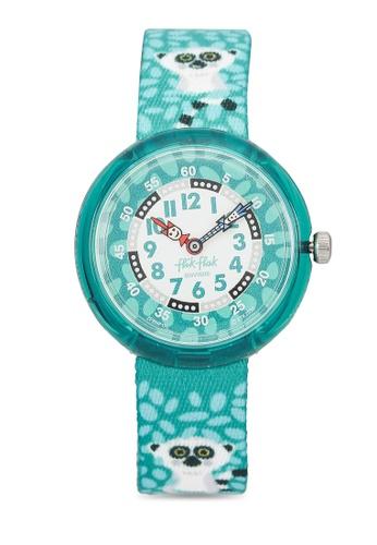 Flik Flak green Curious Lemur Watch 6408DKC9D59F6FGS_1