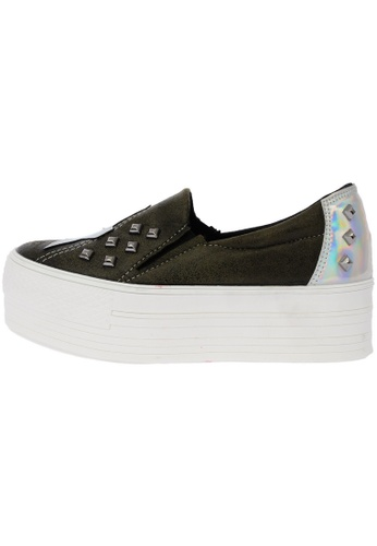 Maxstar Star Span Synthetic Leather Taller Insole Studed White Platform Sneakers US Women Size MA168SH63DMIHK_1