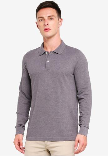 OVS 灰色 混色棉混合物 POLO衫 C5330AA877EBE4GS_1